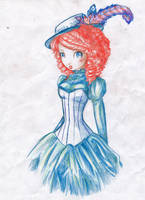 blue dress by pepsipupsi