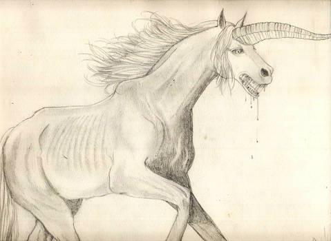Starving zombie unicorn