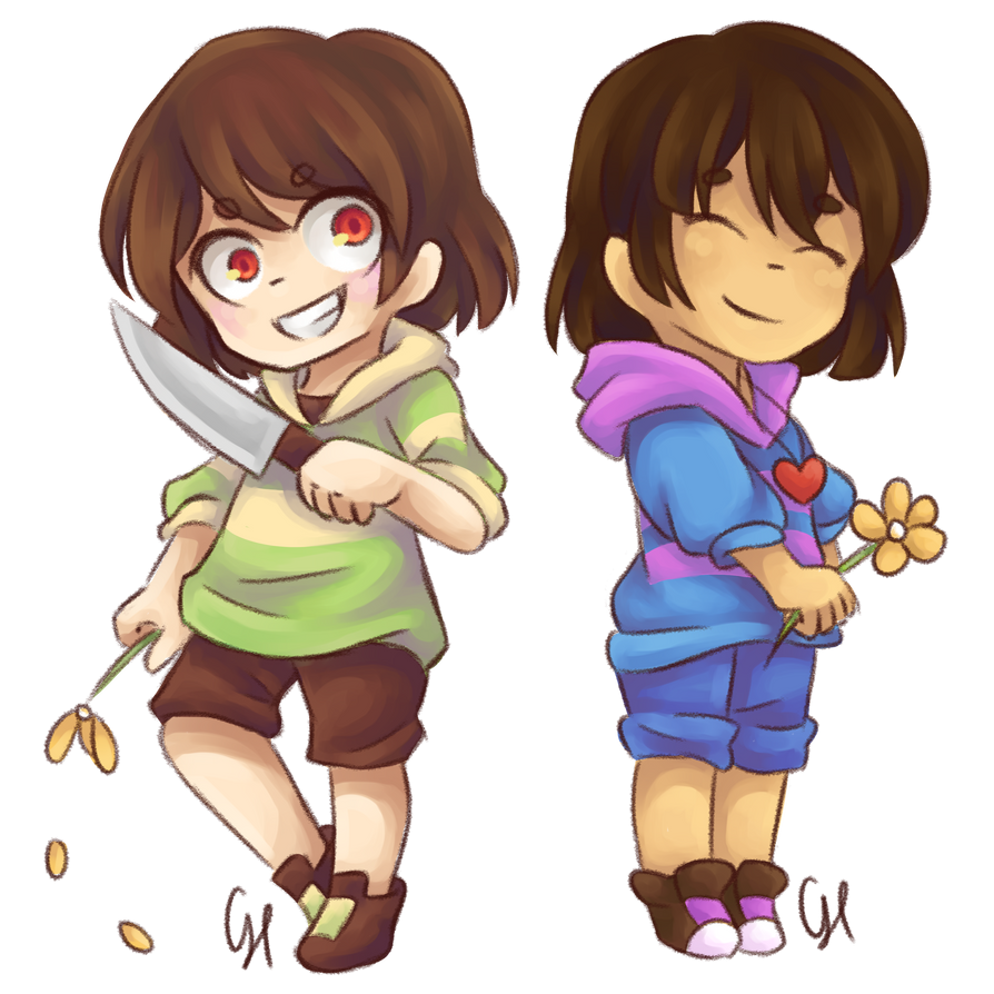 Frisk And Chara Undertale By Cairolingh On Deviantart