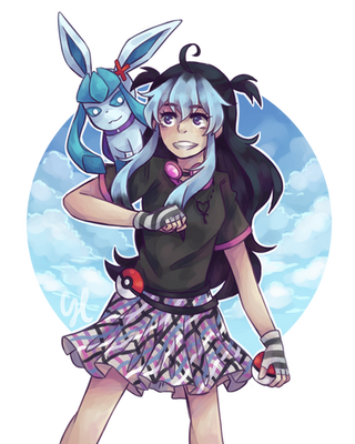 CM: Ebba and Drizzle (Drizzle-The-Glaceon) by CairolingH