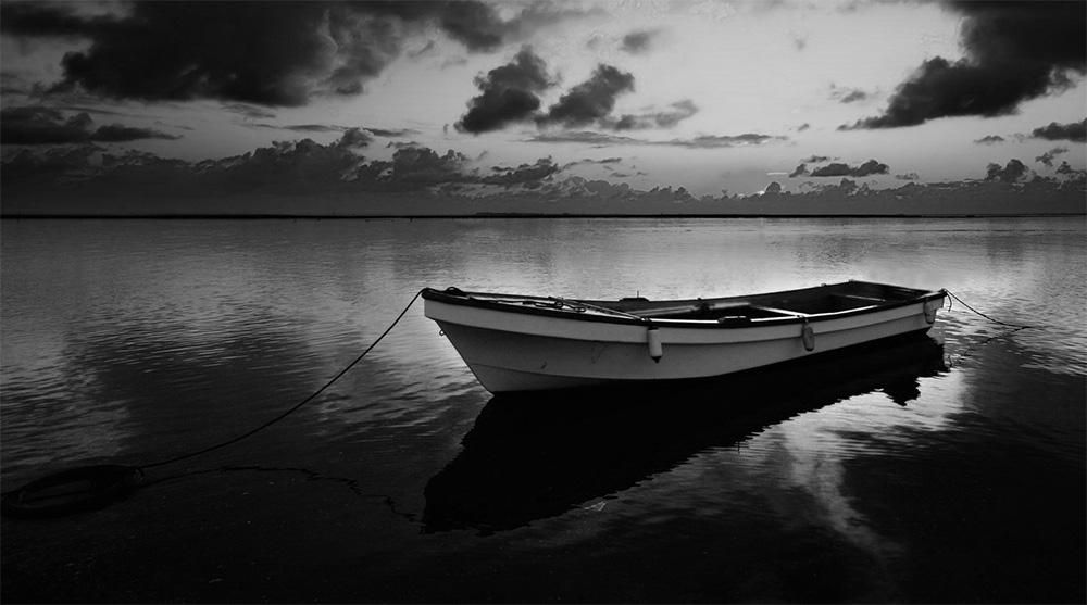 Boat at Sunset by StevenHammond