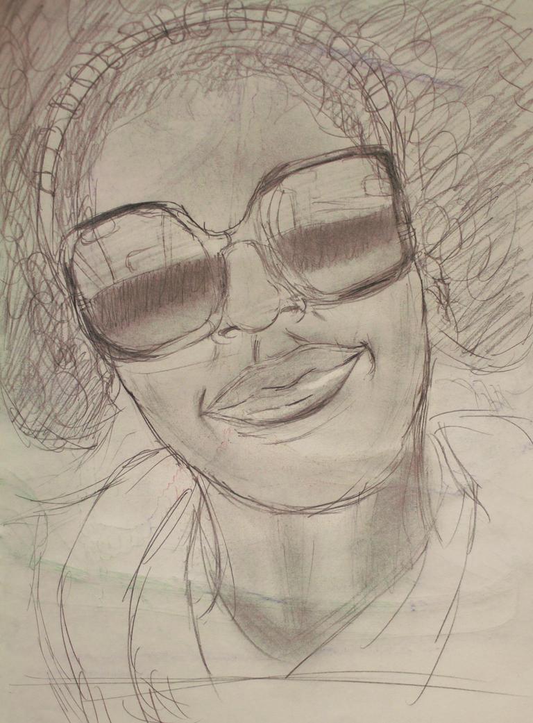 Sketchbook Self-portrait by wunder-mind