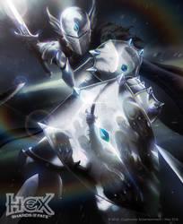 Cerulean Mirror Knight by albino-Z
