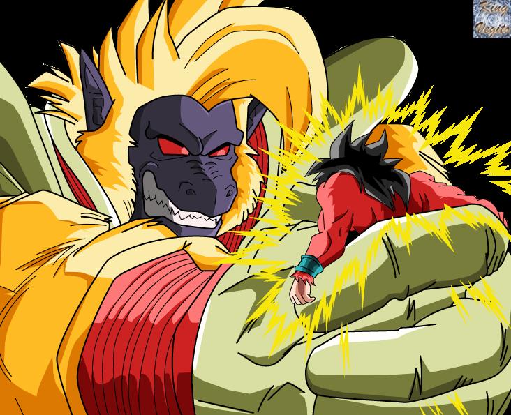 Ozaru Baby Vegeta Vs Goku Ssj4 By Sonssj3 On Deviantart
