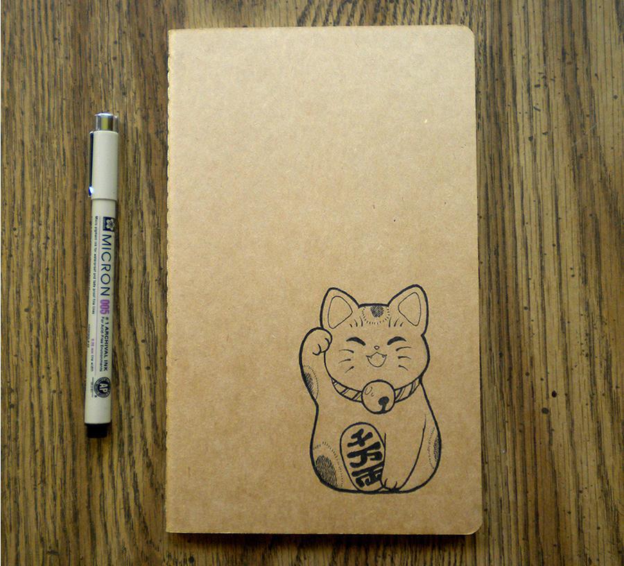 Maneki Neko Moleskine Cahier by mini-britt