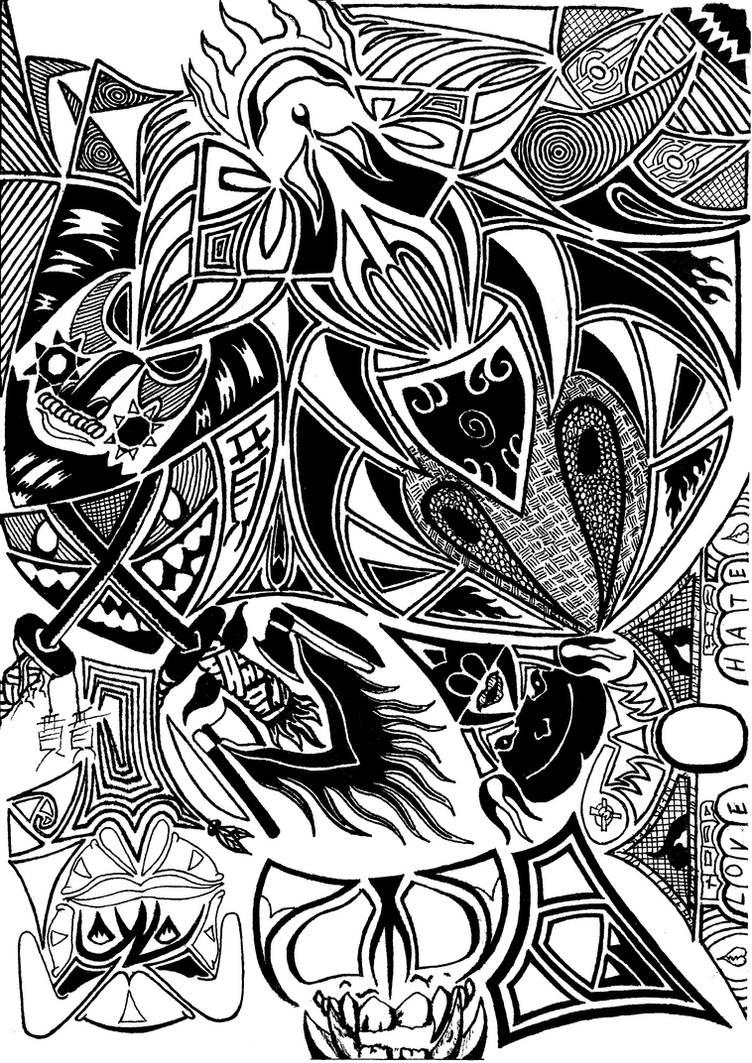 Abstract Black Pen 4 By Dajuggla069 On Deviantart