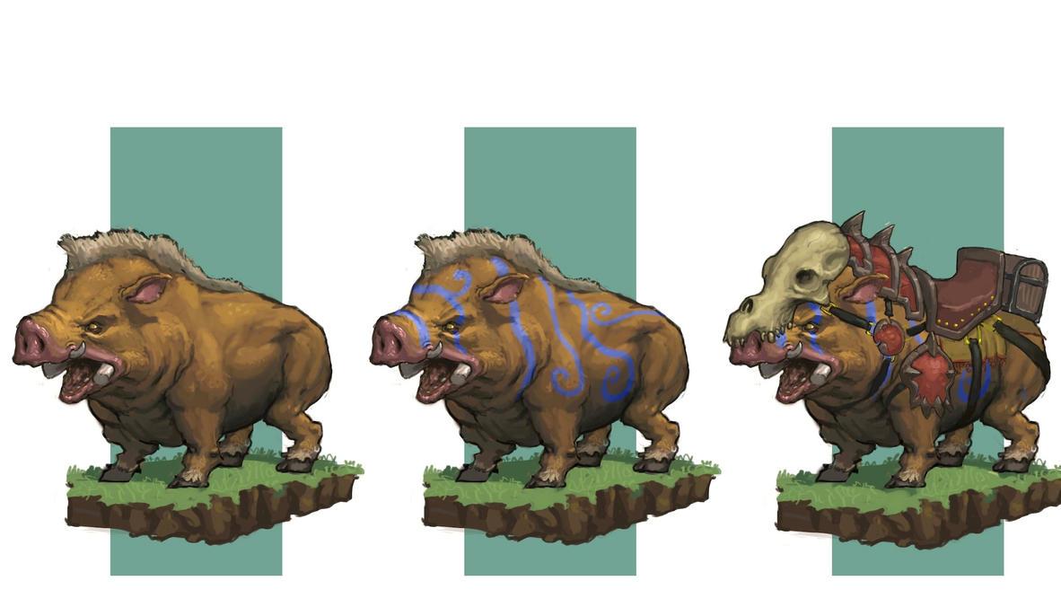 Wild Boar Concept by awesomeplex on DeviantArt