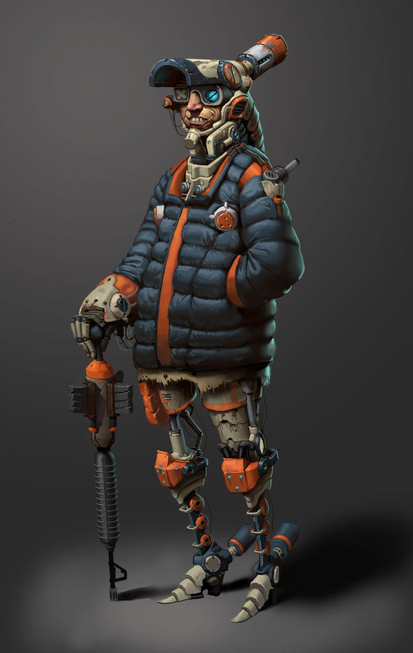 Crazy Sci Fi Homeless Guy by awesomeplex