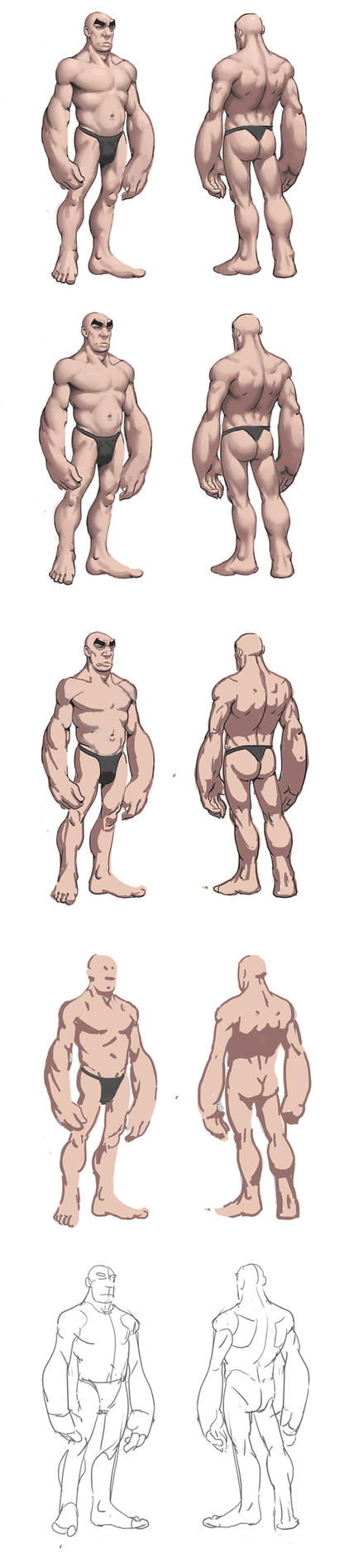 Naked dude process by awesomeplex