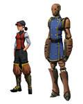 Steam punk armor by awesomeplex