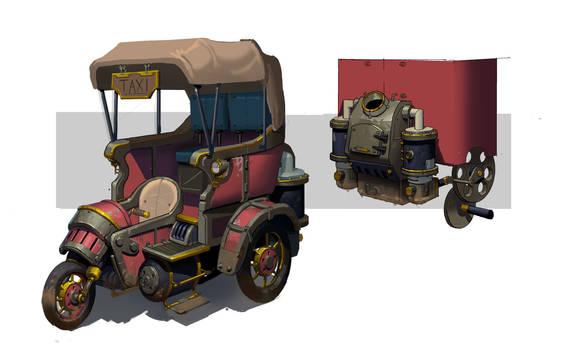 Steam punk taxi