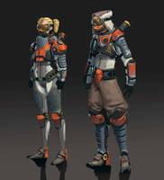 Sci fi armor by awesomeplex