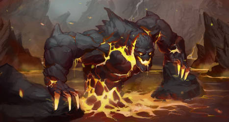 Magma Beast by awesomeplex