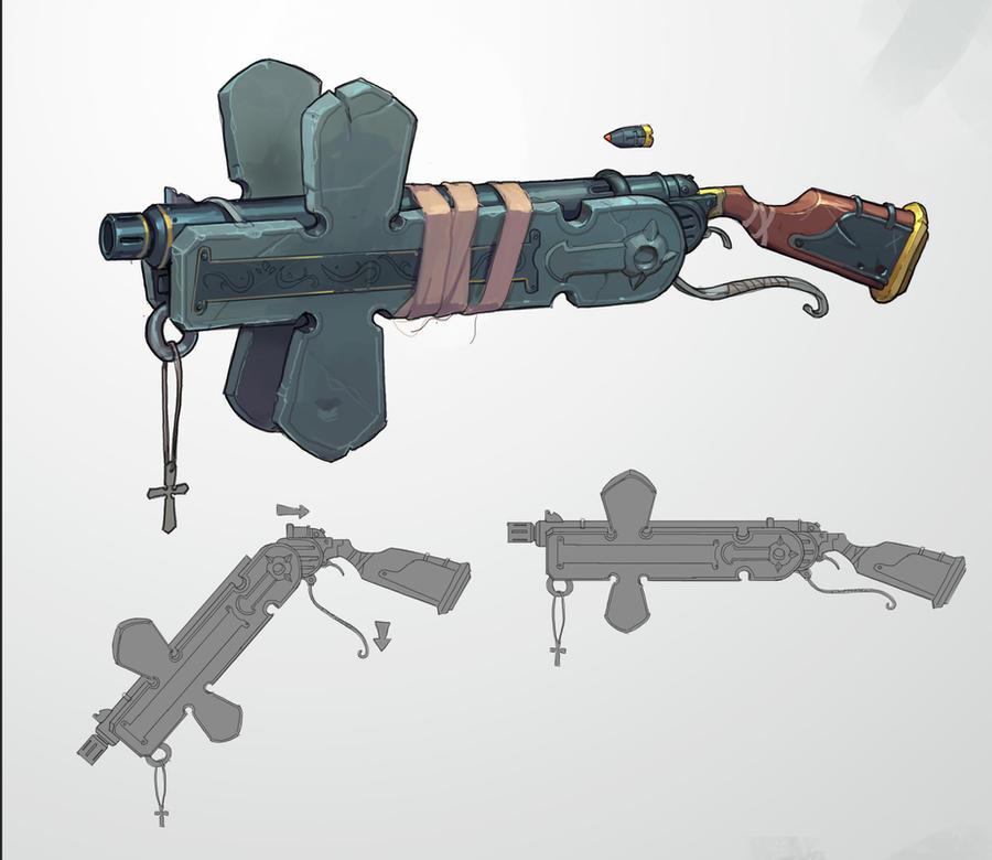 Amos gun by awesomeplex