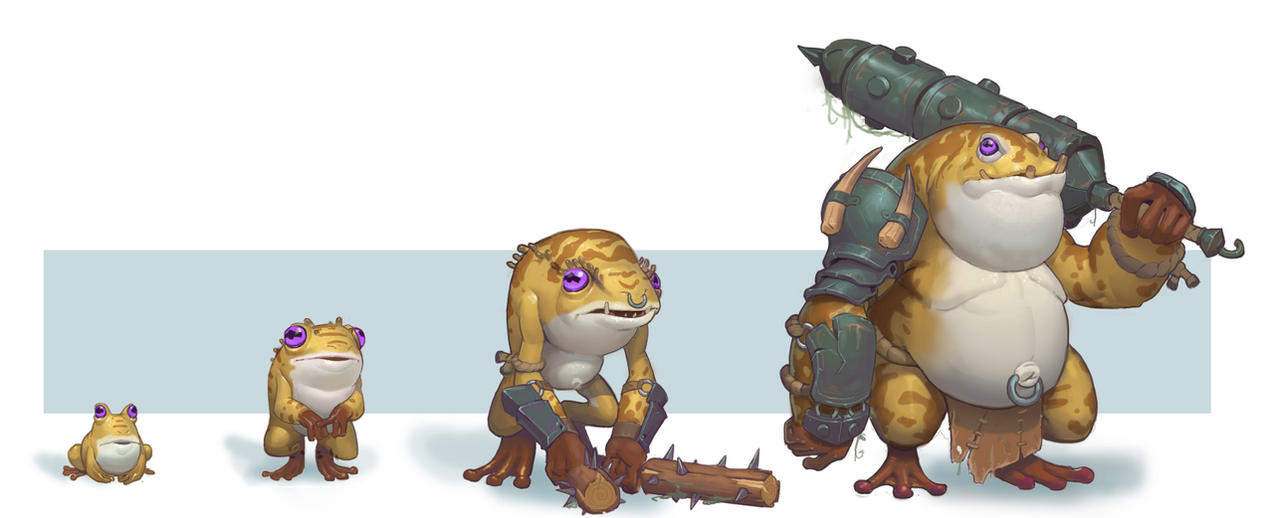 Frog level up by awesomeplex