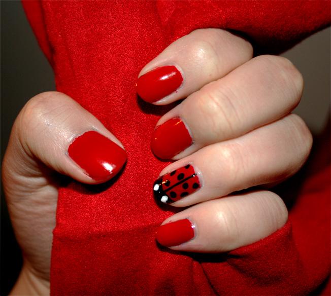 Ladybug Nails | Looking FANCY