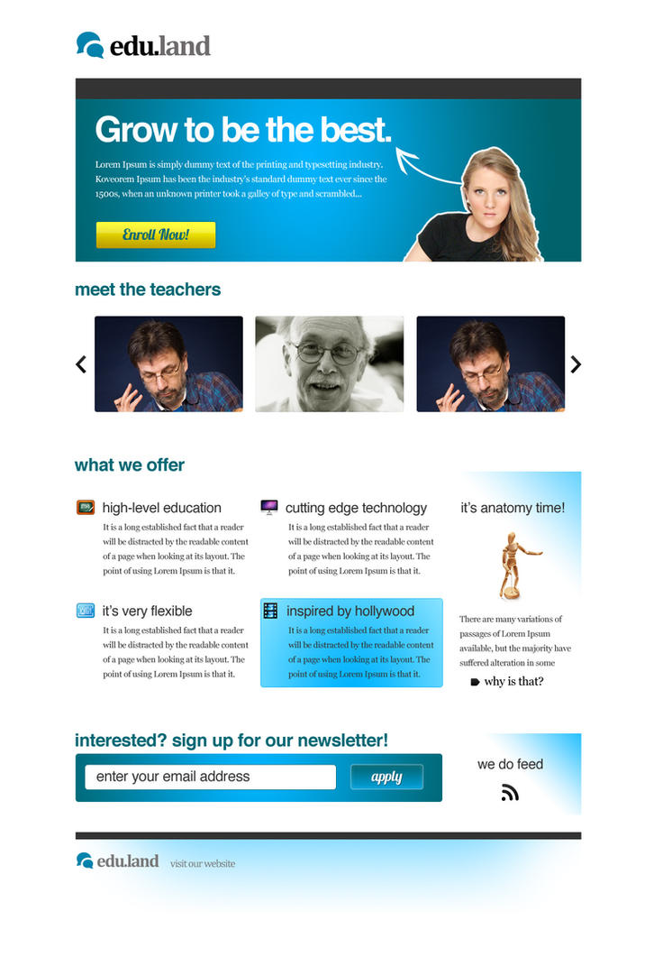 edu.land Landing Page by maoractive