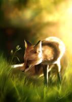 Spring fox by Martith