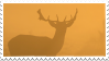 Deer in the fog - stamp