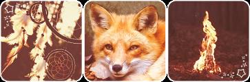 Fox fire deco divider by Martith