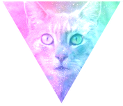 Triangle decor - Galaxy cat by Martith
