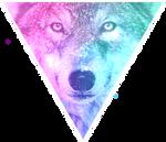 Triangle decor - Galaxy wolf by Martith