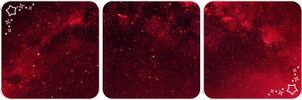 Red stars deco divider by Martith