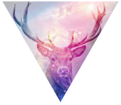 Triangle decor - Deer by Martith