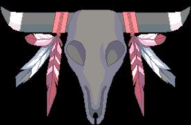 Buffalo skull F2U by Martith