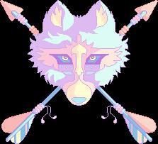 Pastel Native Wolf [F2U] by Martith