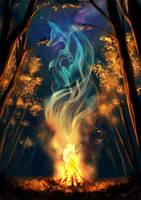Autumn spirit - redraw by Martith