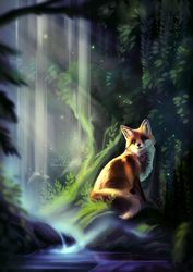 By the stream | Speedpaint by Martith