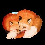 Foxtober day 15 - Sleep