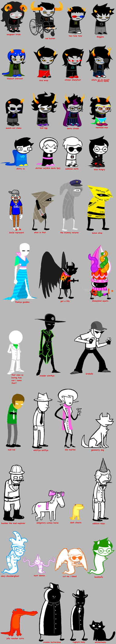 homestuck according to my sister by stickyfruit