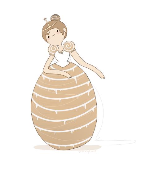 cinnamon bun princess by stickyfruit