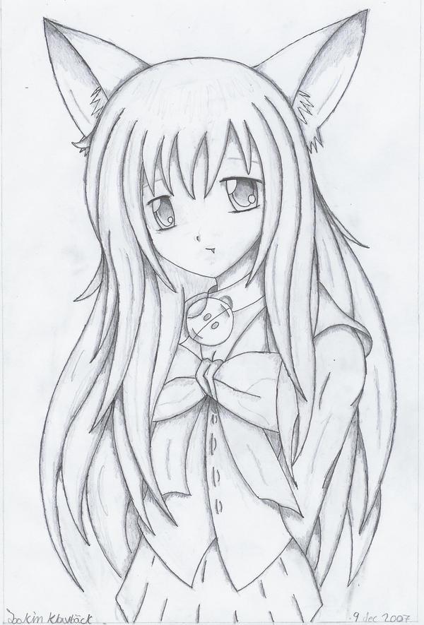 Cute cat girl 2 by joakaha