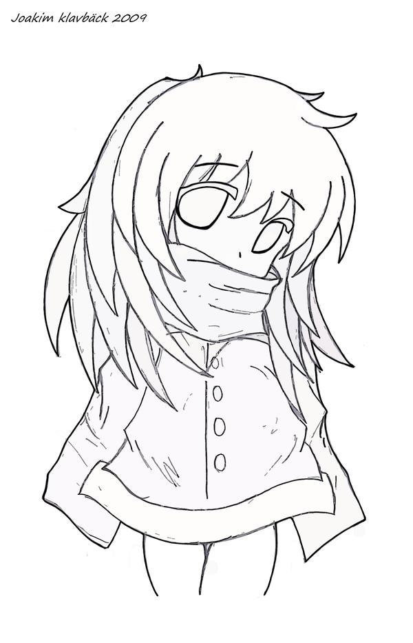 Anime Girl Lineart : Little anime girl line art pictures to pin on pinterest