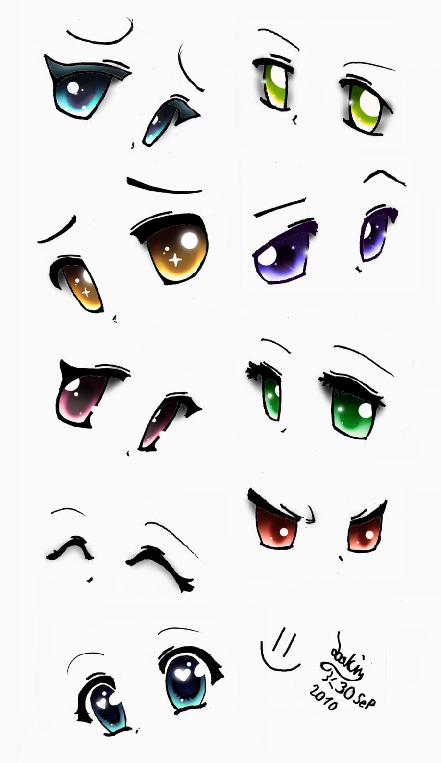 This is a picture of Sizzling Cute Anime Eyes Drawing