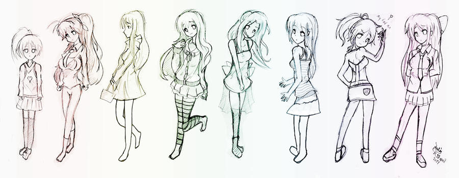 AnimeManga Body Practice 4 By Joakaha