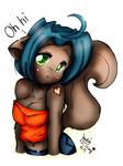 ...Green eye furry girl...