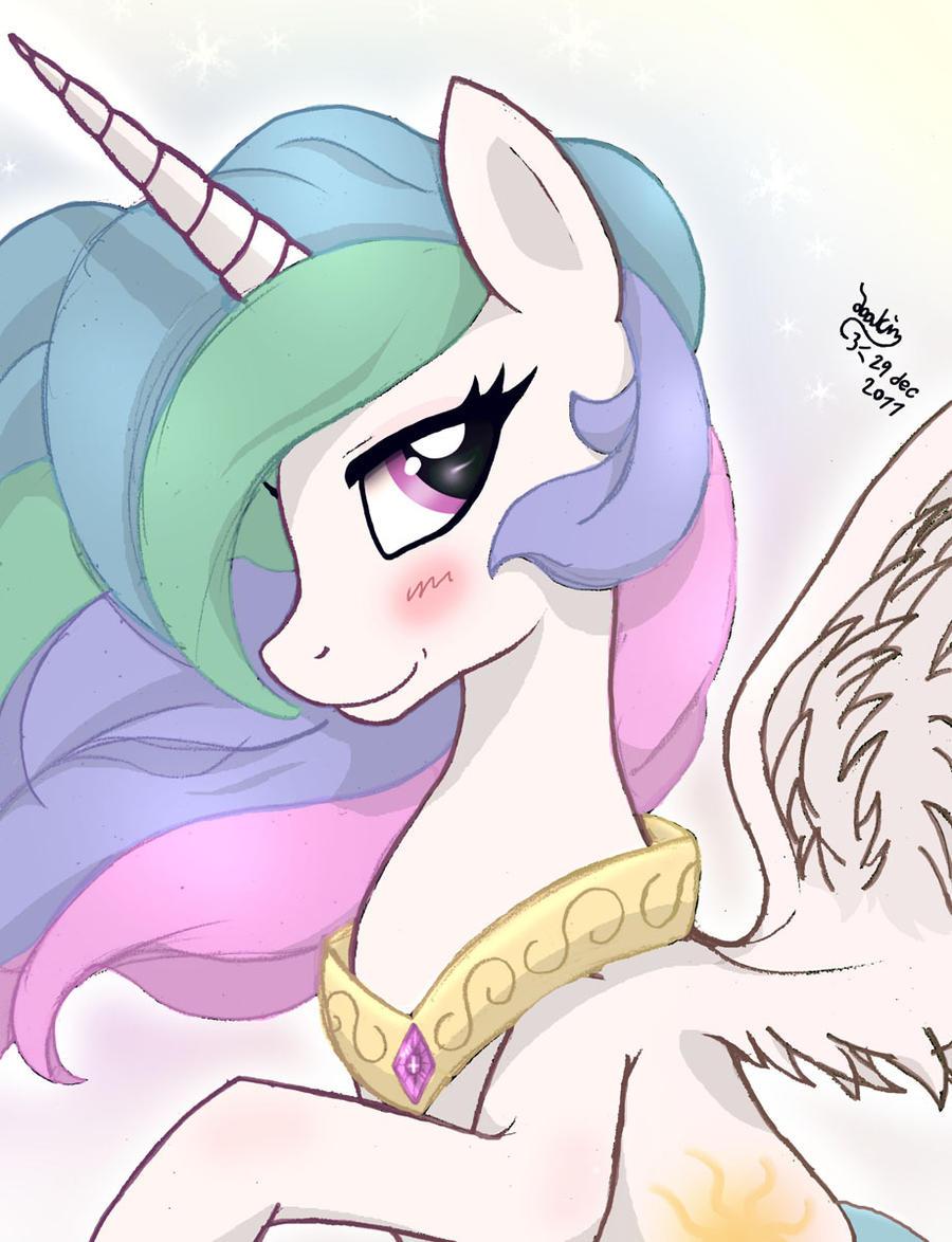 MLP FIM - Princess Celestia 4 C by Joakaha