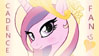 MLP FIM - Princess Cadence Fan Stamp by Joakaha