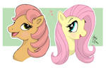 MLP - Posey Fluttershy Green Hoofs Sisters
