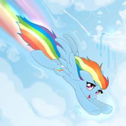 MLP FIM - Rainbow Dash Fly Very Fast by Joakaha