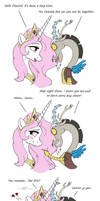 MLP FIM comic - Celestia And Discord Younger by Joakaha