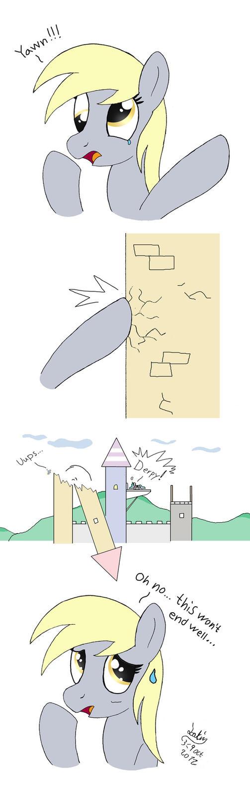 MLP FIM comic - Derpy Hooves Ups... by Joakaha