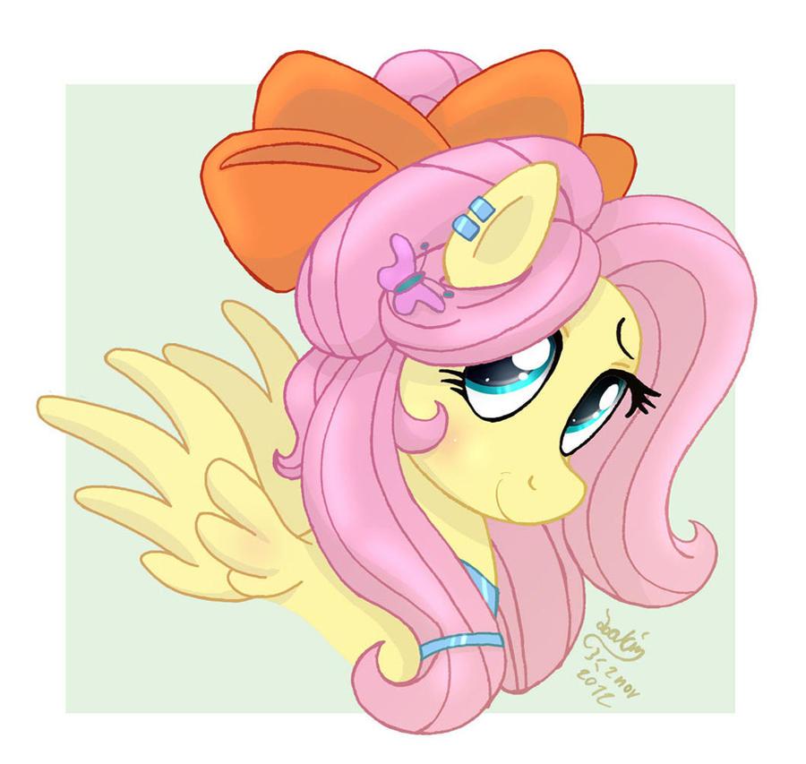 MLP FIM - Fluttershy Like A Princess by Joakaha