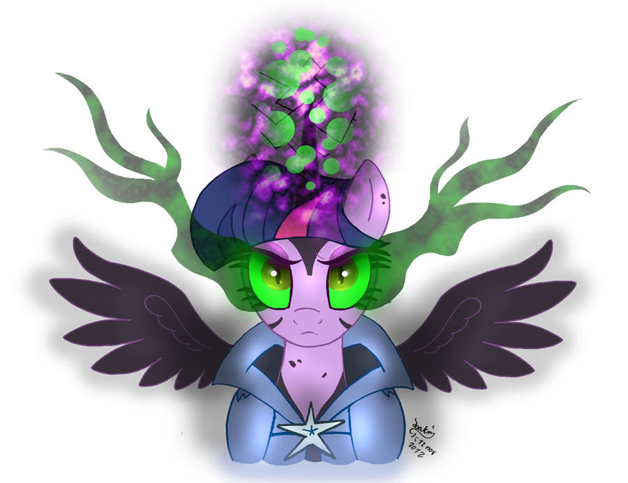 MLP FIM - Twilight Sparkle Controled by Dark Magic by Joakaha