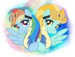 MLP FIM - Rainbow Dash And Lightning Dust