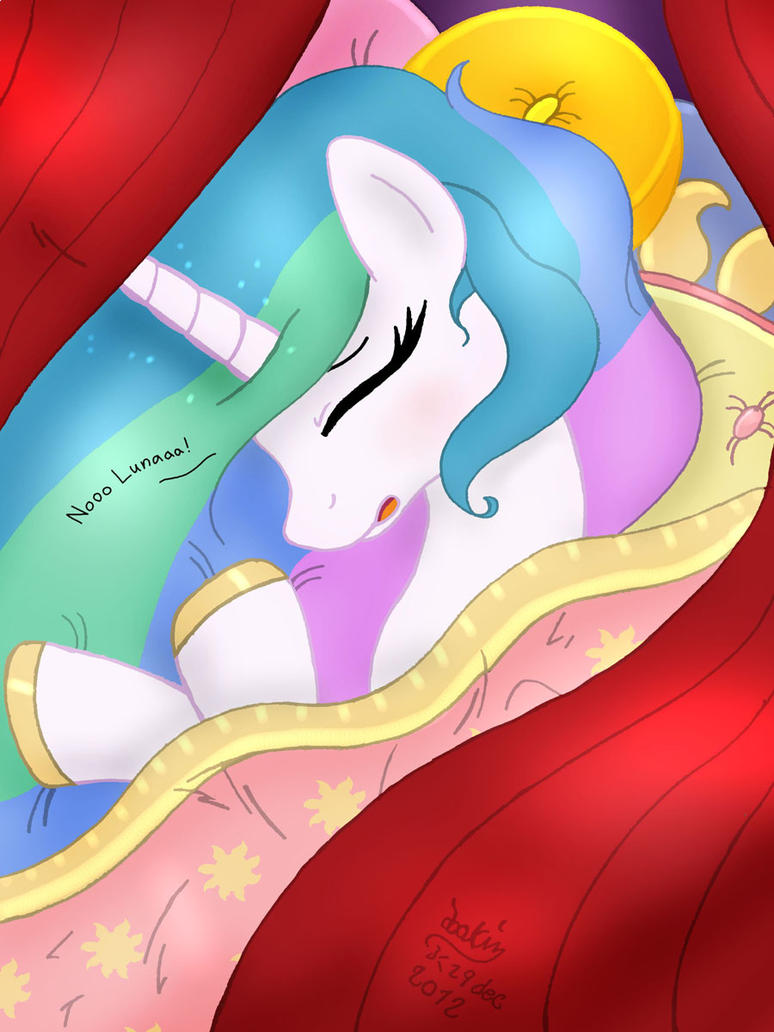 MLP FIM - Princess Celestia Memory Sleep by Joakaha